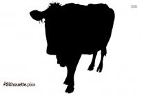 Cattle Silhouette Image, Farm Animal Background