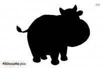 Cartoon Cow Silhouette Illustration