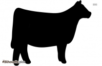 Feed Cow Cartoon Silhouette Image