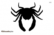 Cartoon Crab Vector Silhouette Image