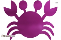Cartoon Crab Silhouette Clipart, Image