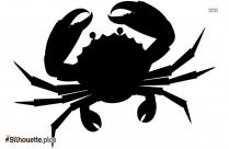Cartoon Crab Symbol Silhouette