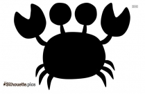 Cartoon Crab Vector Silhouette Image