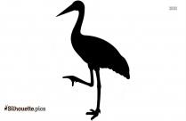 Cartoon Crane Bird Silhouette