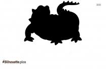 Black Alligator Silhouette Image