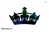 Simple Queen Crown Drawing Silhouette
