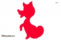 Cartoon Cute Fox Silhouette