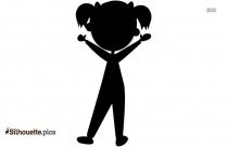 Cartoon Cute Girl Clip Art Silhouette Image