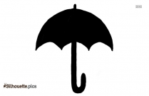 Cartoon Cute Umbrella Silhouette