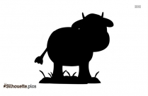 Cartoon Cow Silhouette Clip Art