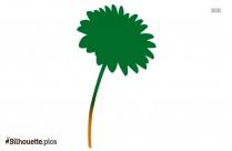 Single Flower Silhouette Vector Graphics