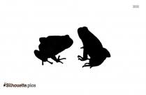 Cartoon Dartfrogs Silhouette