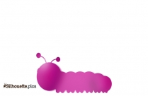 Cartoon Dead Caterpillar Silhouette