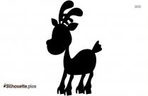 Cartoon Deer Baby Silhouette