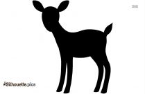 Cartoon Deer Silhouette Vector