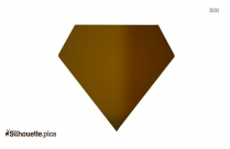 Diamond Shape Silhouette Vector