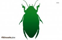 Cartoon Diving Beetle Silhouette
