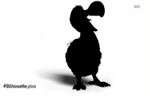 Cartoon Dodo Bird Silhouette
