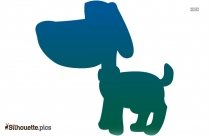 Cartoon Puppy Silhouette Background Image