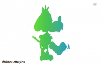 Cute Cartoon Puppy Silhouette Image And Vector