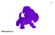Cartoon Poodle Silhouette Drawing