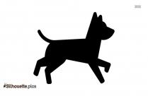 Dog Running Silhouette