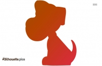 Disney Pluto Dog Silhouette For Download