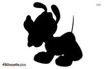 Cartoon Dog Logo Silhouette For Download