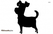 Cartoon Dog Silhouette Image And Vector