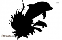 Cartoon Dolphin Silhouette Illustration Image