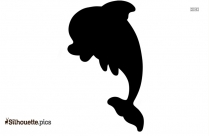 Cute Baby Dolphin Silhouette