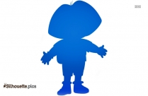 Dora And Boots Silhouette Art, Dora The Explorer Characters Clipart