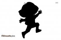 Cartoon Dora Running Silhouette