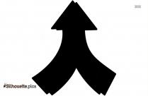 Cartoon Double Arrow Silhouette