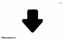 Black Up Arrow Single Silhouette Image