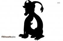 Celtic Dragon Silhouette Free Vector Art