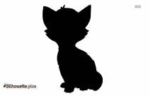 Cartoon Drawing Of Cat Silhouette
