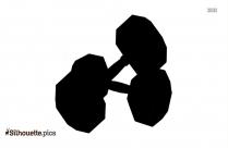 Cartoon Dumbbell Silhouette Image