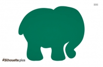 Cartoon Elephant Drawing Silhouette
