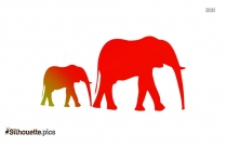 Cartoon Elephant Silhouette Art Drawing