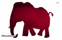 Funny Elephant Silhouette Clip Art