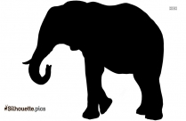 Tribal Elephant Silhouette Drawing