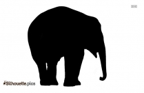 Cute Baby Elephant Clip Art, Silhouette