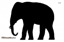 Indian Elephant Symbol Silhouette Clipart