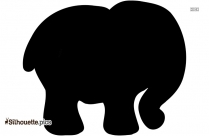 Elephant With Tusks Silhouette Picture