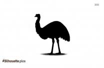 Cartoon Emu Silhouette
