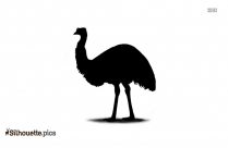 Cartoon Emu Silhouette Background