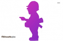 Cartoon Engineer ClipArt Silhouette