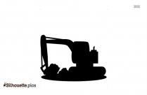 Cartoon Excavator Silhouette