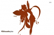 Black Flower Fairy Silhouette Image